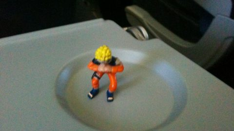 Naruto Chills in the cup holder