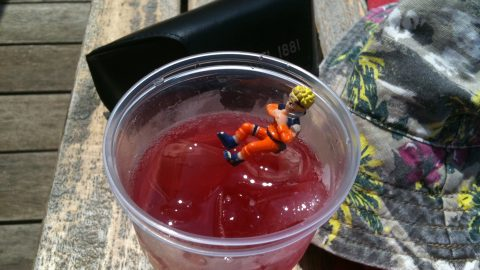 Naruto chills in a drink