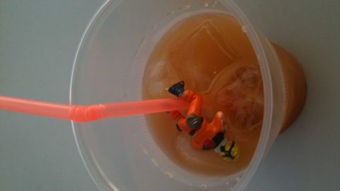 Naruto enjoys a unknown drink too much