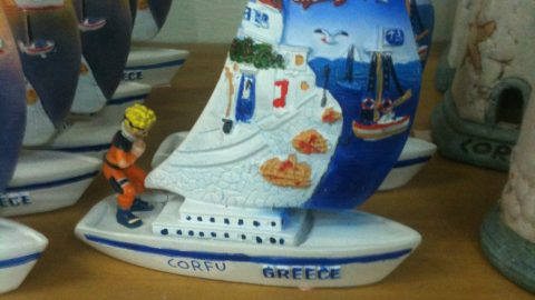 Naruto is on a boat
