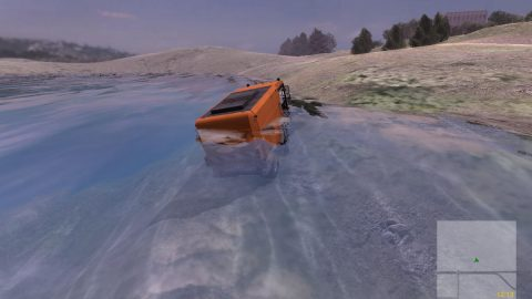 As spring approaches, the street sweeper emerges from its hibernation at the bottom of the lake in search of a mate
