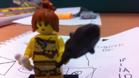 This was going to be a picture of Fiona, but Gow was pretty sure she would rip my nuts off if I did that - So here is a Lego