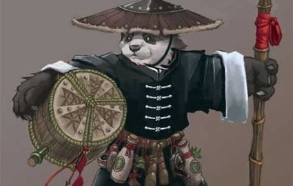 Peaceful and carrying beer, this is my kinda panda