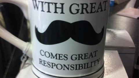 With Great Mustache comes Great Responsibility