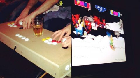 Gow made his own arcade box, it is bloody impressive