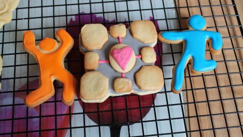 The good thing about having a wife that can bake - Portal Cookies!!