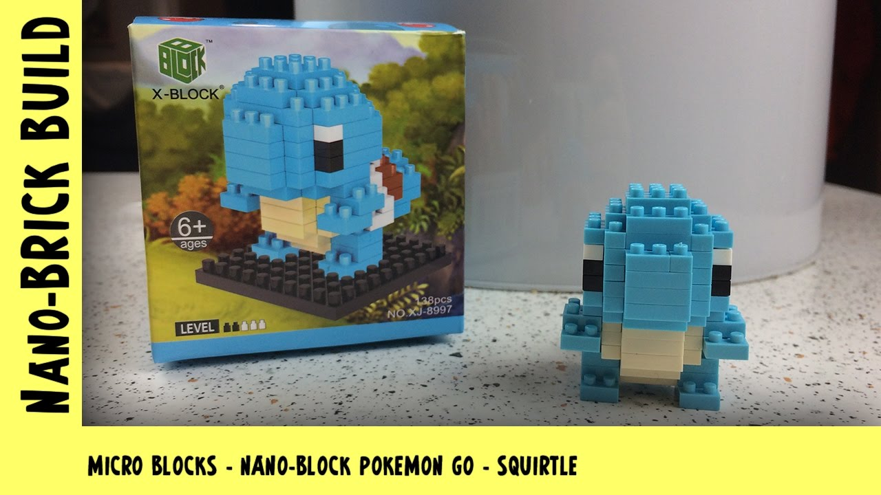 BootLego: Nano-Block Squirtle Pokemon Go Build | Nano-Brick Build | Adults Like Toys Too