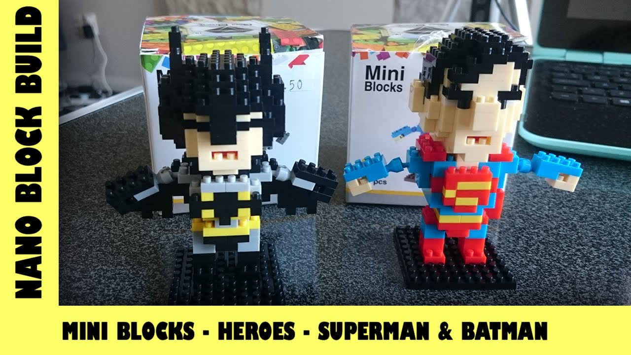 BootLego: Magic Blocks DC Batman & Superman | Nano-Brick Build | Adults Like Toys Too