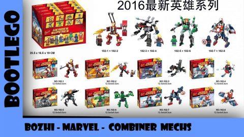 BootLego: Bozhi 102 Marvel Minfigures and Mechs | Bootlego Minifigures | Adults Like Toys Too