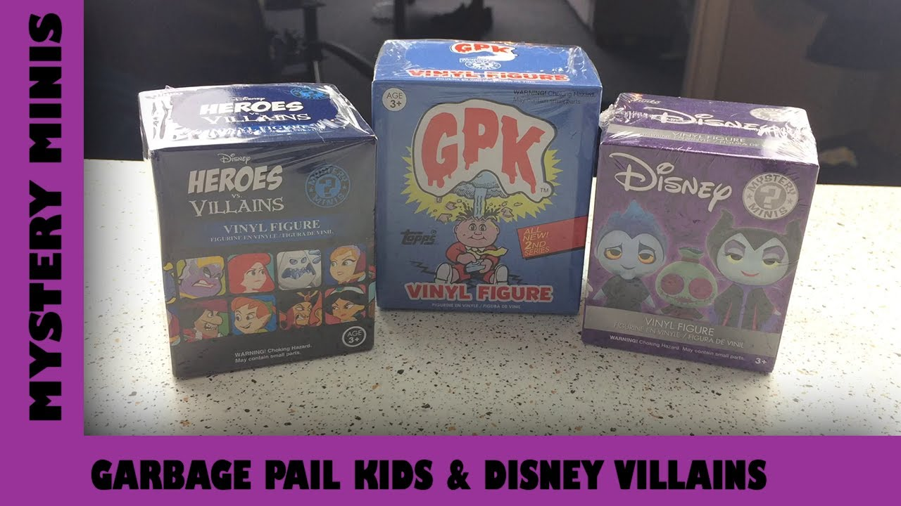 Garbage Pail Kids & Disney Vilains Funko Mystery Minis | Adults Like Toys Too