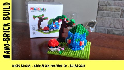 BootLego: Nano-Block Bulbasaur Pokemon Go Build | Nano-Brick Build | Adults Like Toys Too