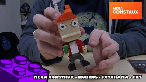 Mega Construx Kubros: Futurama - Fry | Mega Bloks Build | Adults Like Toys Too