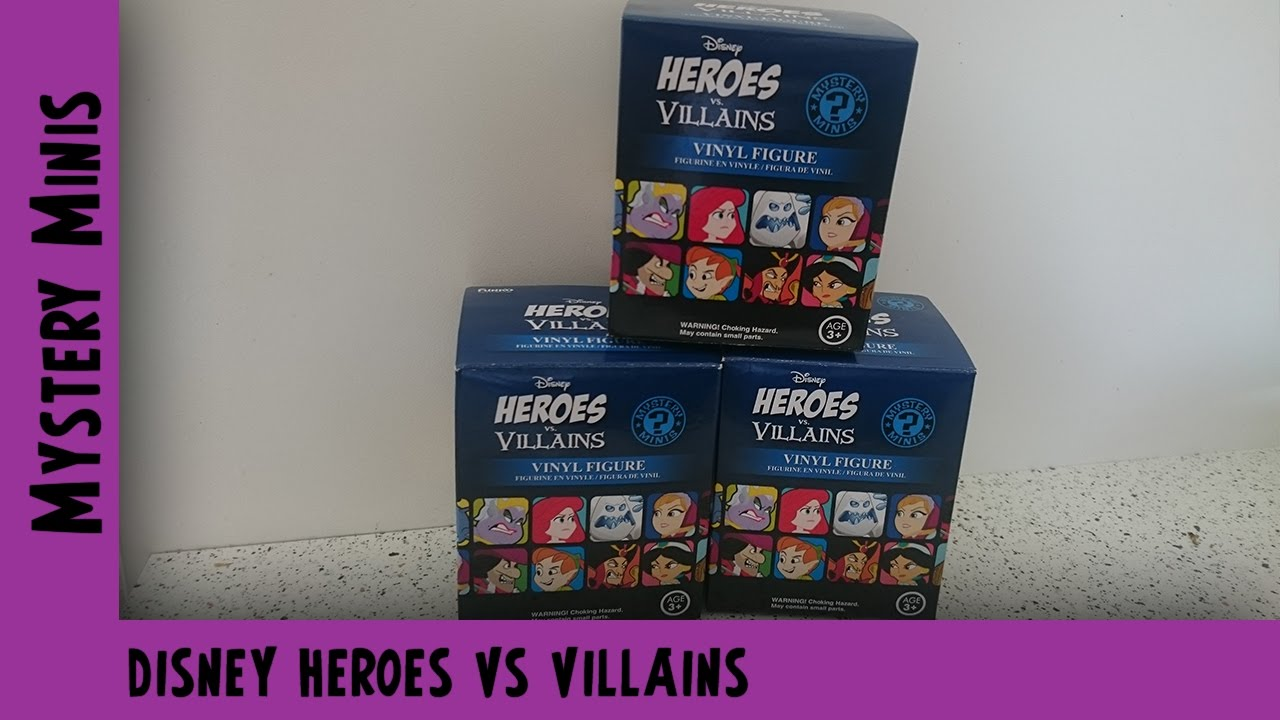 Disney Heroes vs Villains Funko Mystery Mini Unboxing | Adults Like Toys Too