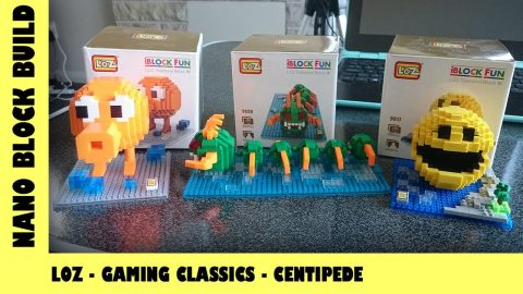 BootLego: LOZ Classic Gaming Characters - Centipede 🎮 | Nano-Brick Build | Adults Like Toys Too