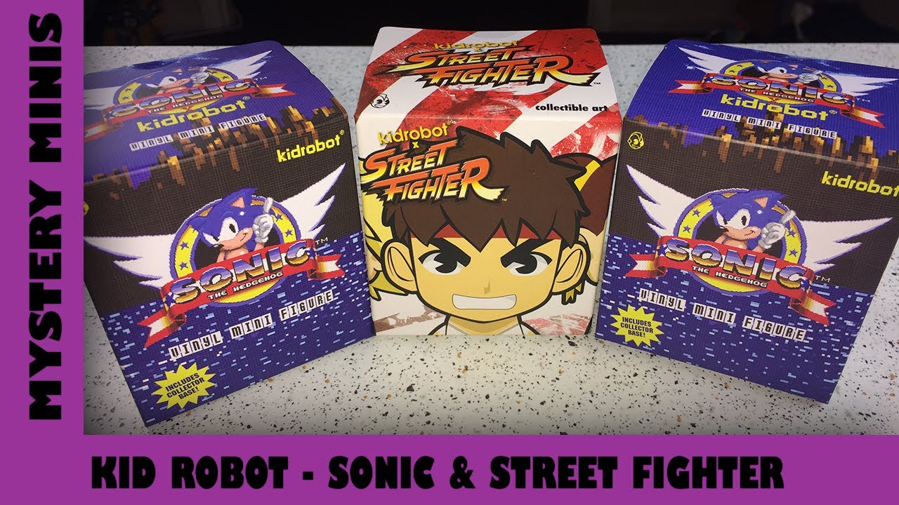 Sonic the Hedgehog & Street Fighter Kid Robot Figure Unboxing | Adults Like Toys Too