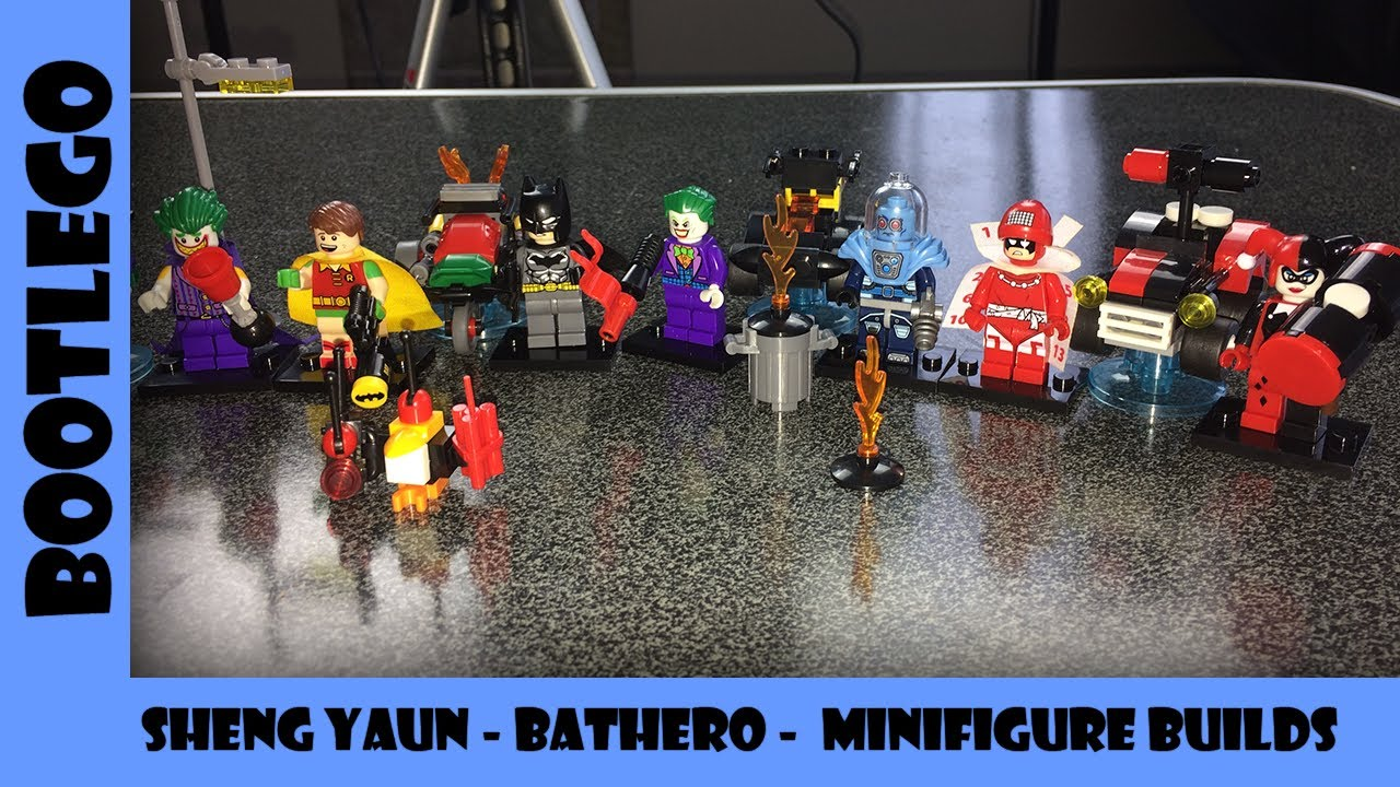 BootLego: Sheng Yuan Bathero Minfigures and Vehicles | Bootlego Minifigures | Adults Like Toys Too