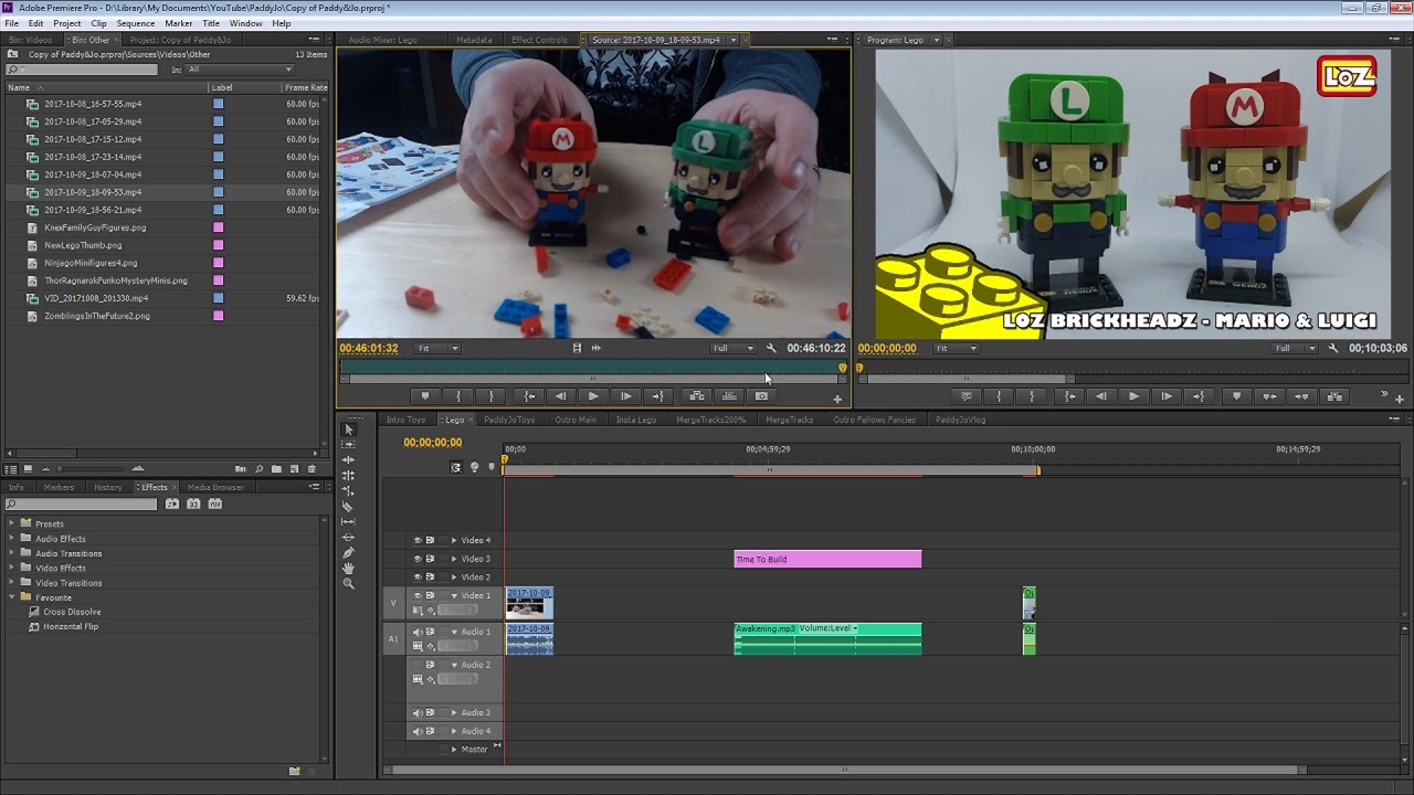 How Paddy edits our Lego Videos!!   #Vlogtober 9   Vlog