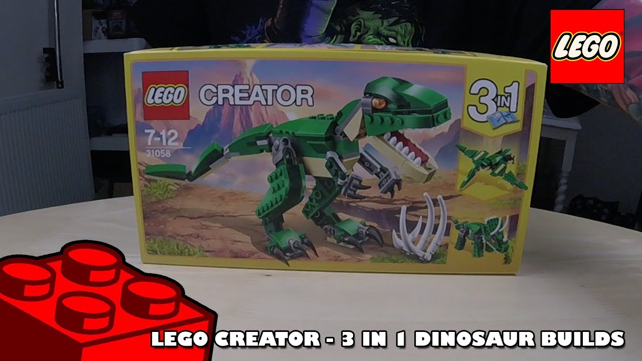 Lego Creator - 3 in 1 Dinosaur Build | Lego Build | Adults Like Toys Too