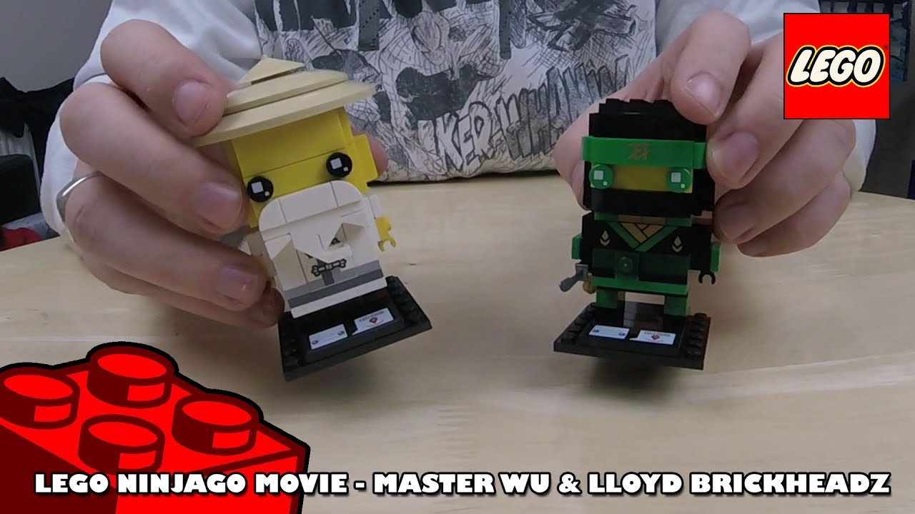 Lego Ninjago Movie - Master Wu & Lloyd BrickHeadz | Adults Like Toys Too