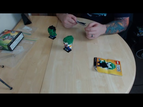 Live Stream Test - Rebuilding the Hulk & Joker BrickHeadz