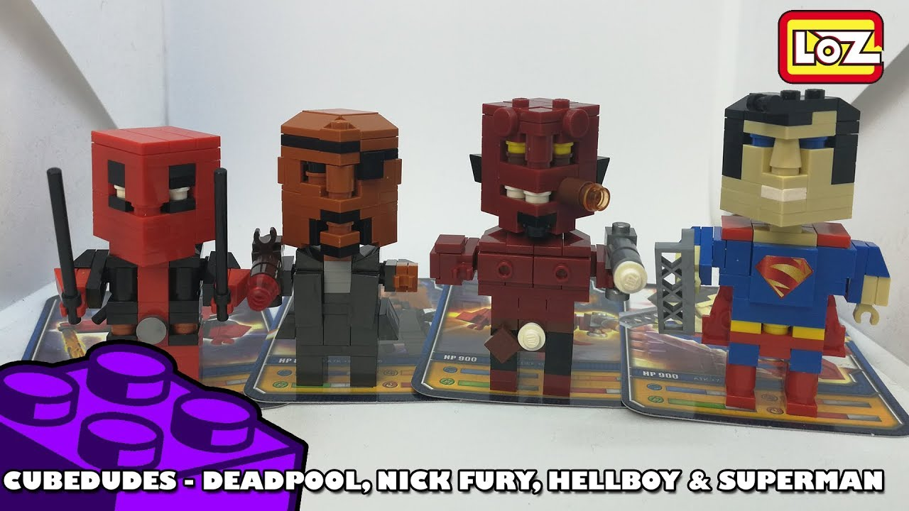 BootLego: LOZ CubeDudes - Hellboy, Superman, Deadpool & Nick Fury | Adults Like Toys Too