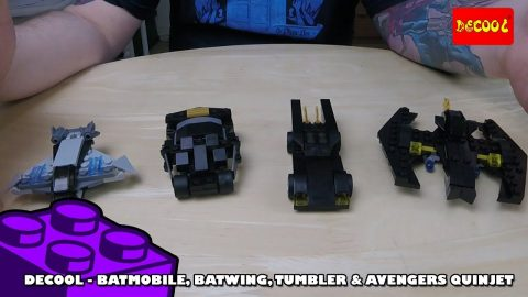 Bootlego: Decool Polybags - Batmobile, Batwing, Tumbler & Avengers Quinjet | Adults Like Toys Too