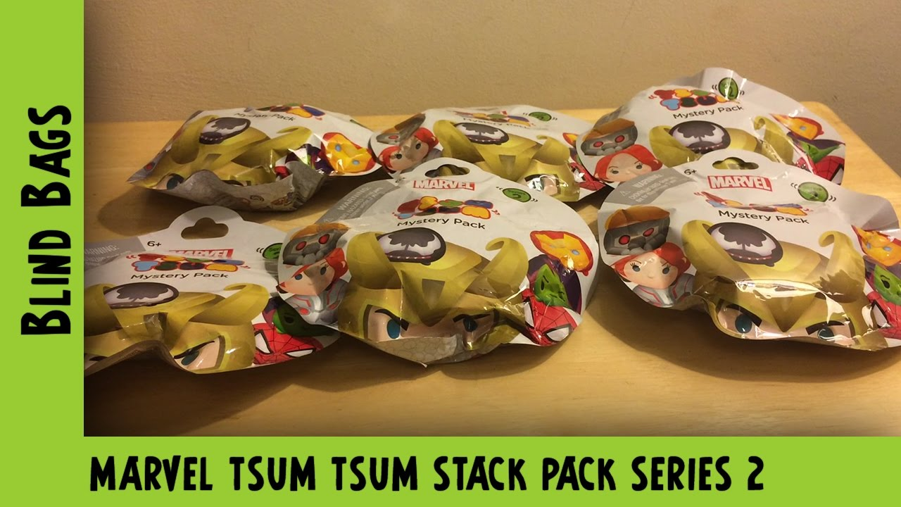Marvel Tsum Tsum Stack Pack Blind Bag Opening  #1   Adults Like Toys Too