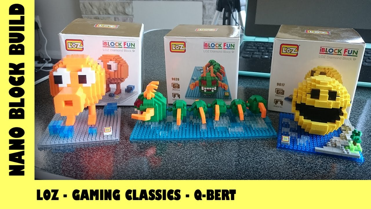 BootLego: LOZ Classic Gaming Characters - Qbert 🎮 | Nano-Brick Build | Adults Like Toys Too
