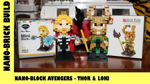 BootLego: Nano-Block Avengers Thor & Loki Build | Nano-Brick Build | Adults Like Toys Too