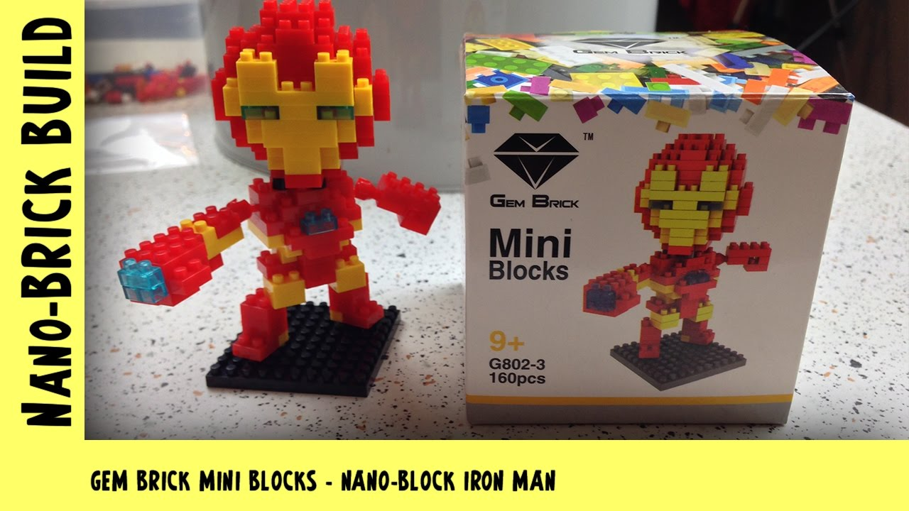 BootLego: Gem Bricks - Nano-Block Iron Man | Nano-Brick Build | Adults Like Toys Too