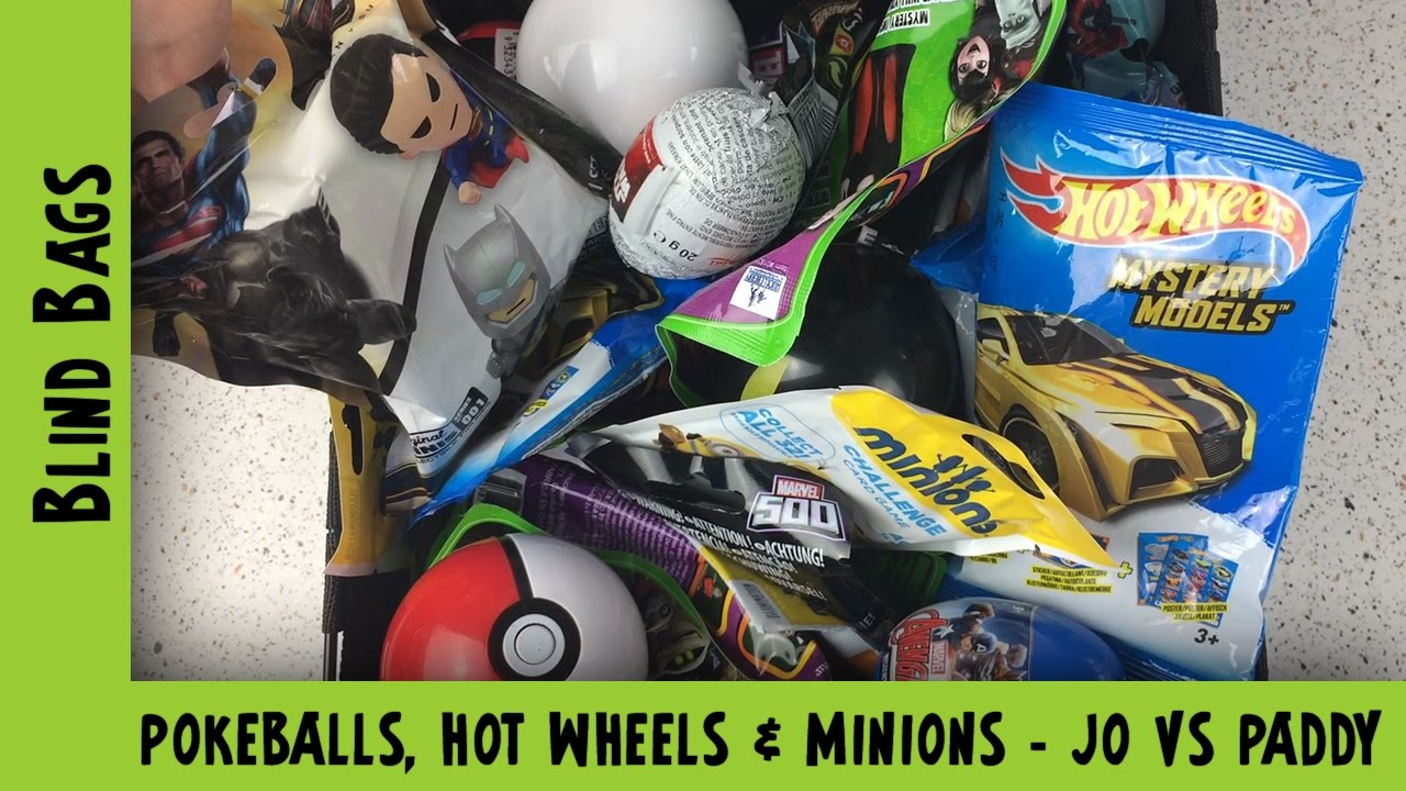 Mystery Blind Bags Random Blind Bag opening - Pokeballs, Minions & Hot Wheels | Adults Like Toys Too