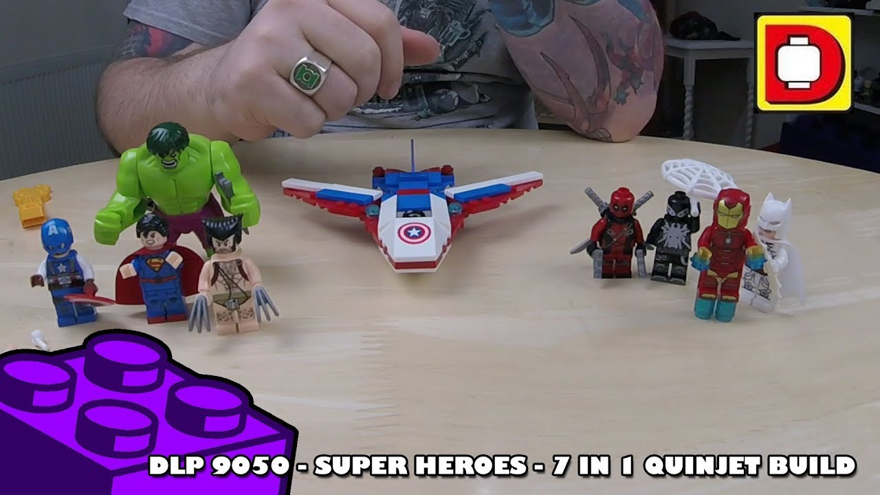 Bootlego: DLP 9050 Super Heroes - 7 in 1 Quinjet Build    Adults Like Toys Too