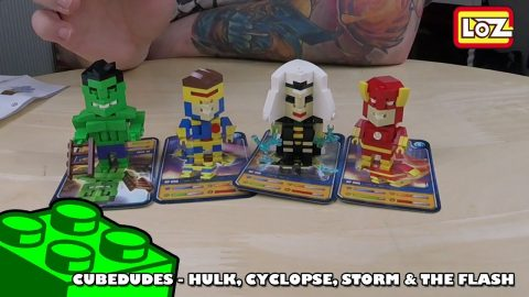BootLego: LOZ CubeDudes - Hulk, Storm, Cyclops & The Flash | Adults Like Toys Too