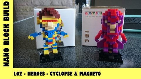 BootLego: LOZ Blocks X-Men Cyclopse & Magneto | Nano-Brick Build | Adults Like Toys Too