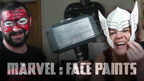 Playing with Marvel Civil War Face Paints | Vlog