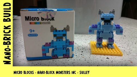 BootLego: Micro Blocks - Nano-Block Monsters Inc Sulley | Nano-Brick Build | Adults Like Toys Too