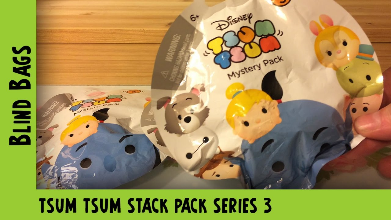 Tsum Tsum Series 3 mystery pack opening  | Adults Like Toys Too