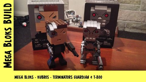 Mega Bloks Kubros: Wave 1 & 2: Terminator Guardian & T-800 | Mega Bloks Build | Adults Like Toys Too