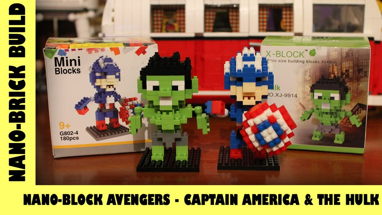 BootLego: Nano-Block Avengers Captain America & The Hulk | Nano-Brick Build | Adults Like Toys Too