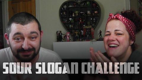 Warheads Sour Slogan Challenge | Vlog
