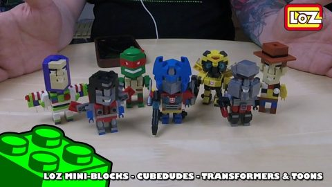 Bootlego: LOZ MiniBlocks - CubeDudes - Transformers & Toons - Timelapse | Adults Like Toys Too