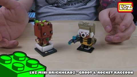 Bootlego: LOZ Mini Brickheadz - Groot & Rocket Raccoon - Review | Adults Like Toys Too