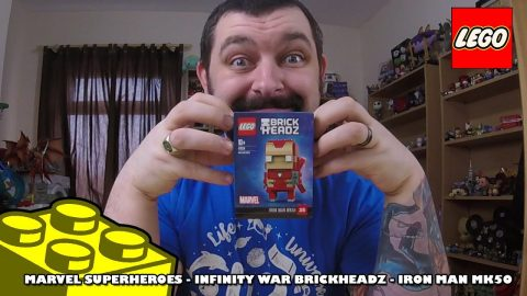 Lego Marvel Infinity War Brickheadz - Iron-Man Mk50 - Review | Lego Build |