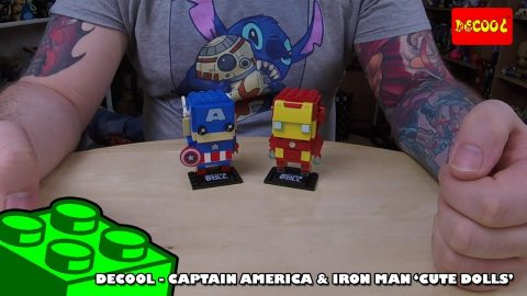 Bootlego: Decool 'Cute Doll' Brickheadz Clones - Captain America & Iron Man - Review