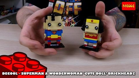 Bootlego: Decool Superman & Wonder woman 'CuteDoll' Brickheadz - Review