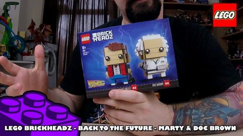 Lego Brickheadz - Back to the Future - Marty & Doc Brown - Timelapse
