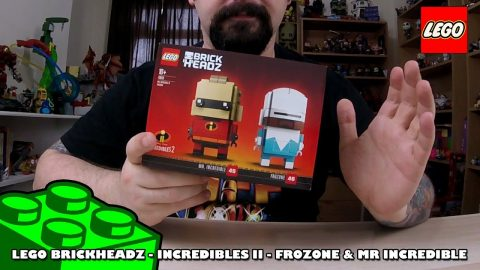 Lego Brickheadz - Incredibles II - Frozone & Mr Incredible - Timelapse