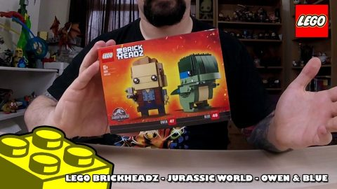 Lego Brickheadz - Jurassic World - Owen & Blue - Timelapse