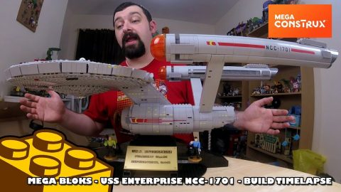 Mega Bloks - USS Enterprise NCC-1701 Collectors Edition Timelapse