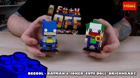 Brickheadz Bootlego: Decool Batman & Joker 'CuteDoll' Brickheadz - Timelapse